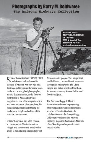 Page 72 of Photographs by Barry M. Goldwater on Display in Scottsdale