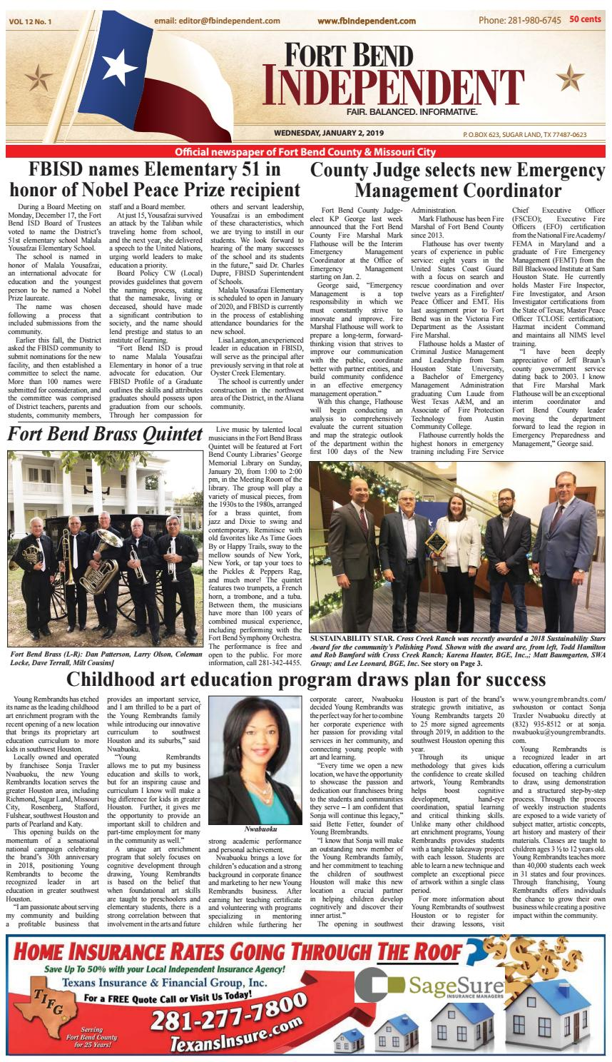 Fort Bend Independent 010219 by Fort Bend Independent - issuu