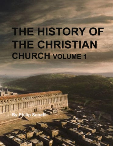 History Of The Christian Church  Volume 1  The Apastolic Church  By