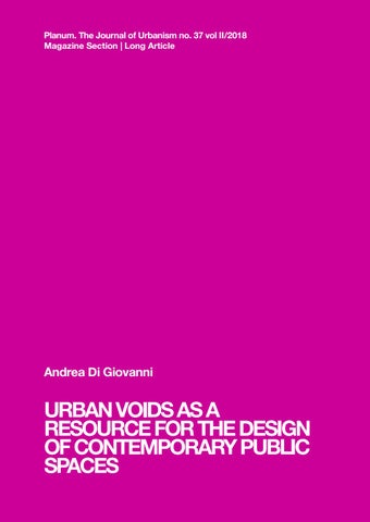 Planum Magazinedi Giovanniurban Voids As A Resource For The Design