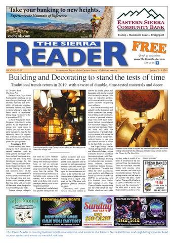 a9b12bb2693 THE SIERRA READER JAN 03 2018 by The Sierra Reader - issuu