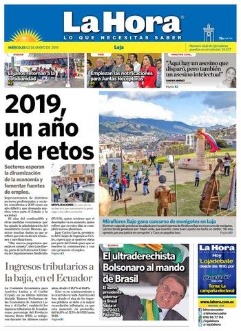 Diario La Hora Loja 02 de Enero 2019 by Diario La Hora Ecuador - issuu 652d2d062bf5d