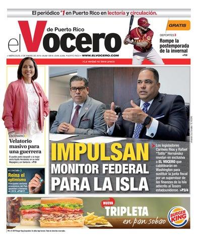 Edición Del 2 De Enero De 2019 By El Vocero De Puerto Rico Issuu