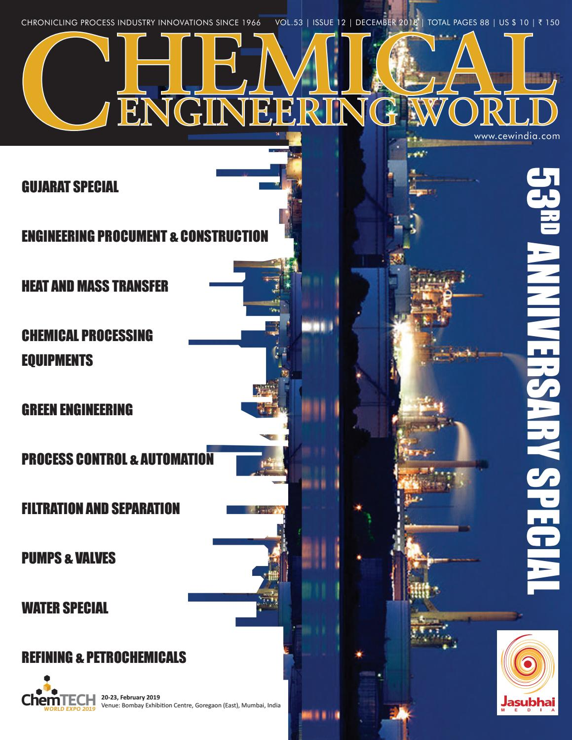 Chemical Engineering World December 2018 by Chemical Engineering