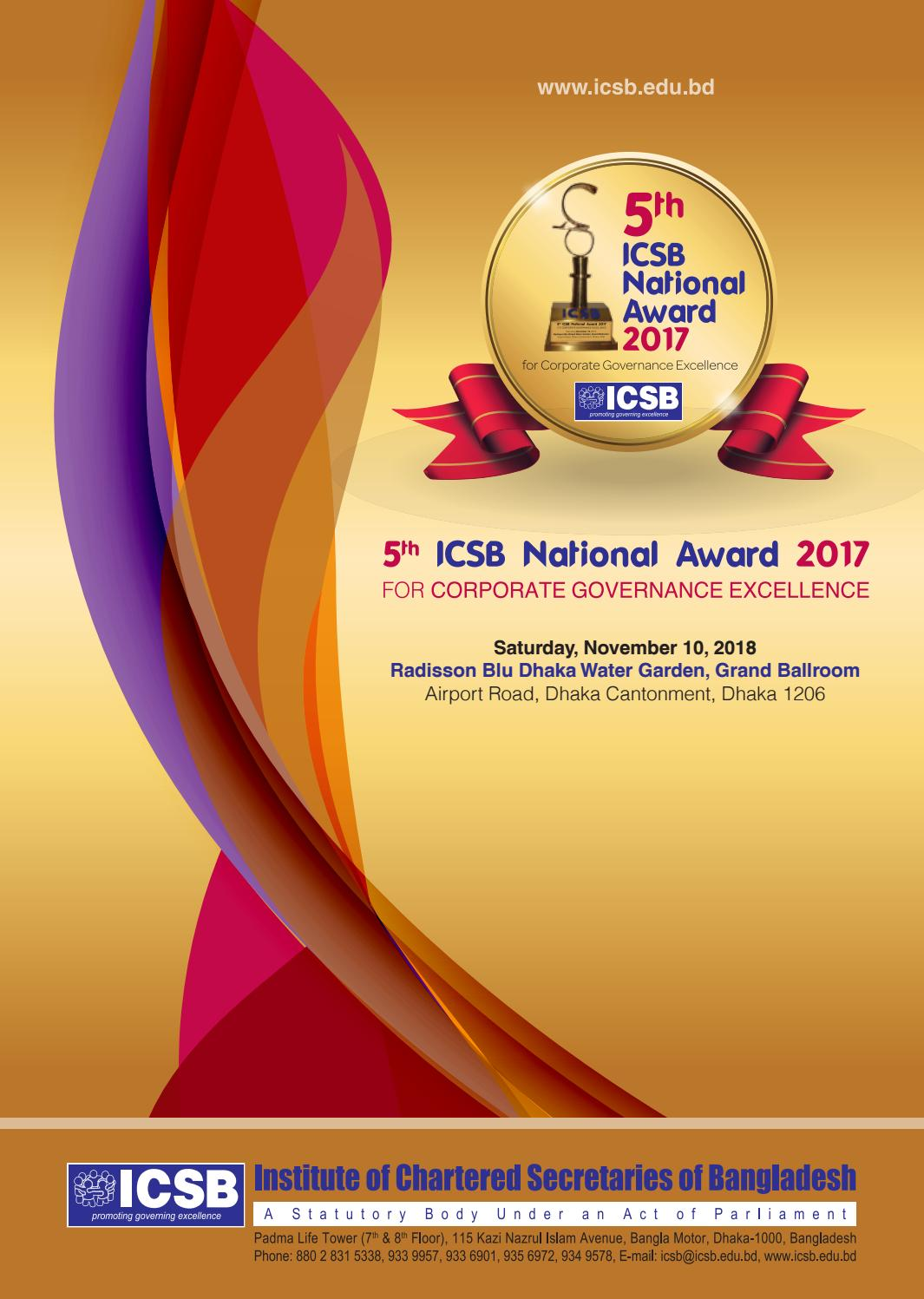 ICSB 5th CGEA Souvenir by ICSB Bangladesh - issuu