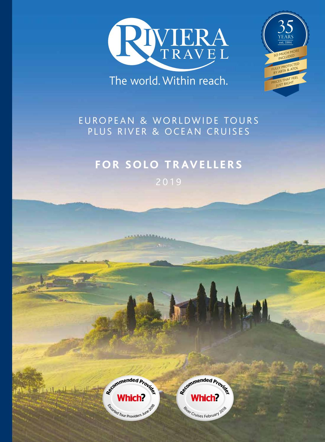 3e623c0c A collection of holidays for Solo Travellers by Riviera Travel - issuu
