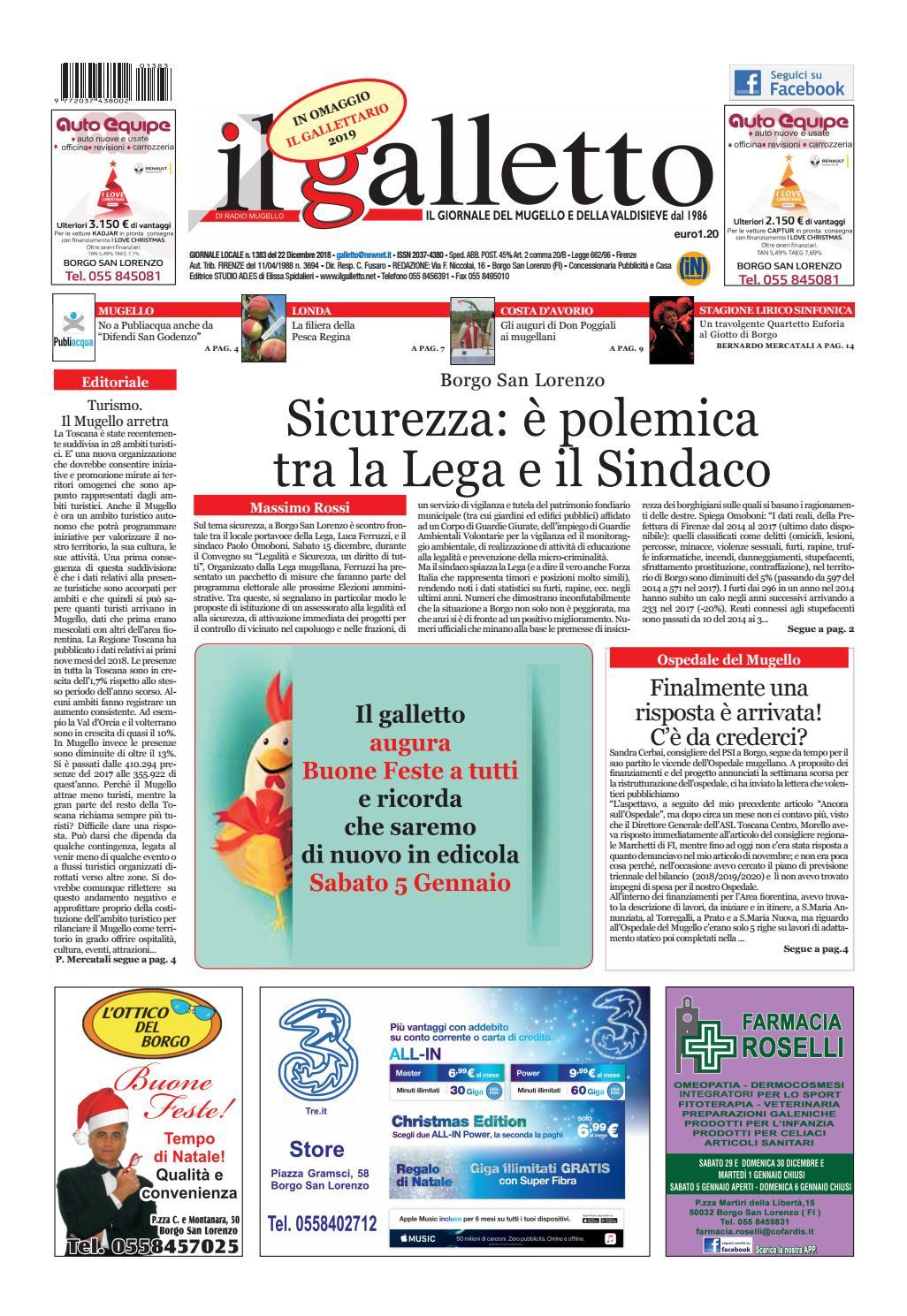 3b633187f8 giustificativi galletto 1383 del 22 dicembre 2018 by Il Galletto Giornale -  issuu
