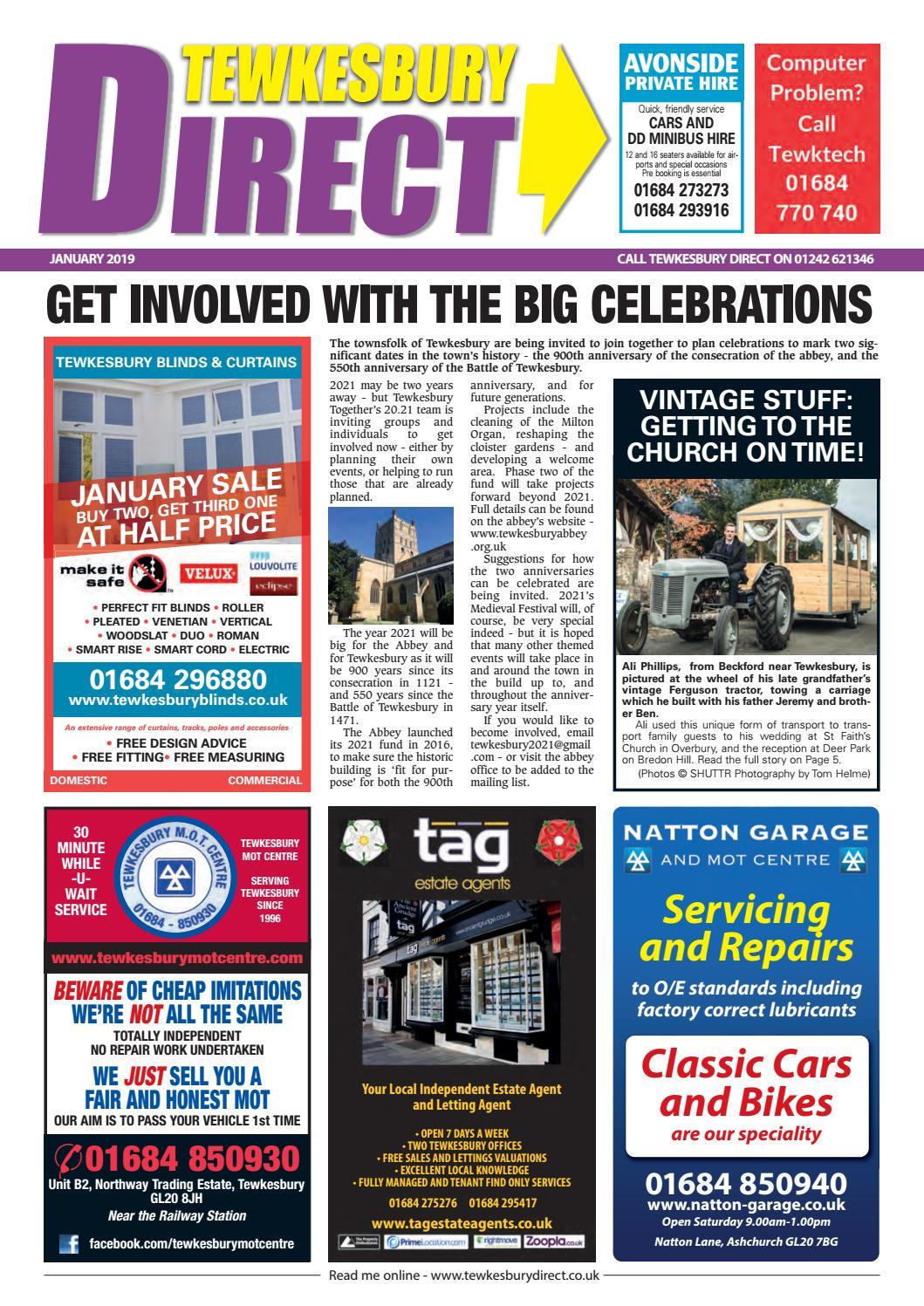 Tewkesbury Direct Magazine January 2019 by Tewkesbury Direct