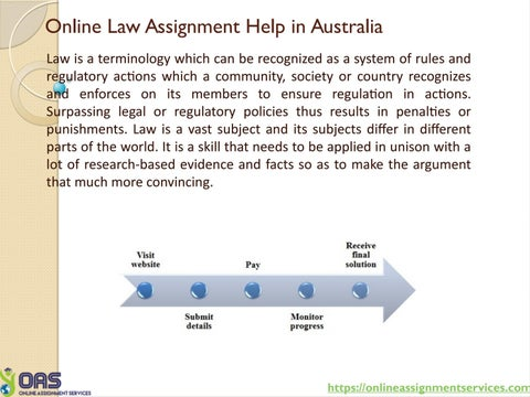 Online Law Assignment Help In Australia By Onlineassignmentservices  Online Law Assignment Help In Australia Law Is A Terminology Which Can Be  Recognized As A System Of Rules And Regulatory Actions Which A Community