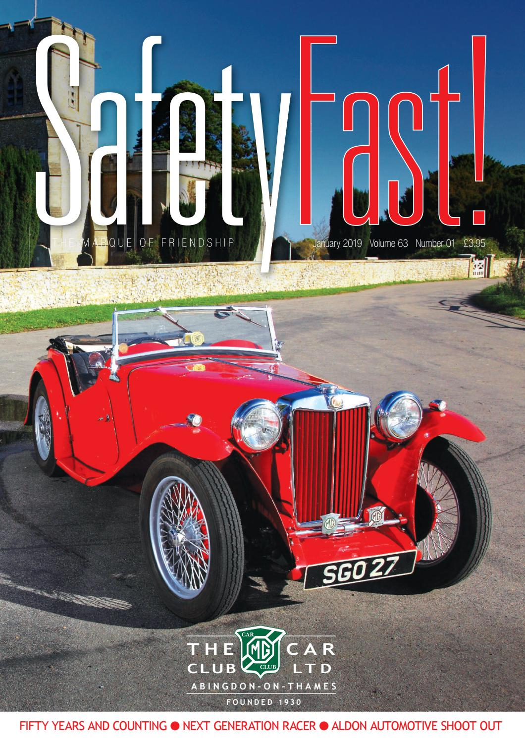 Safety Fast! January 2019 by MG Car Club - issuu