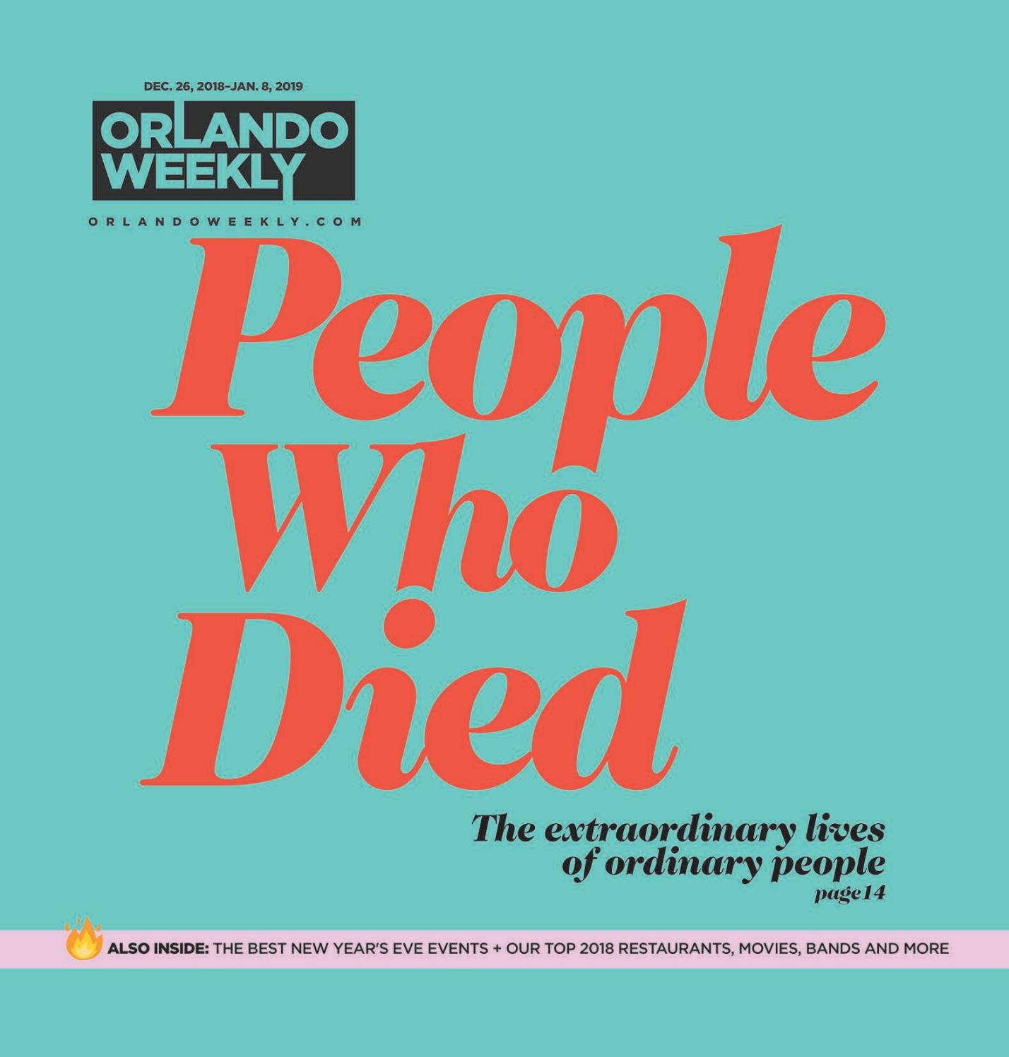 Orlando Weekly December 26 - January 8, 2018 by Euclid Media Group
