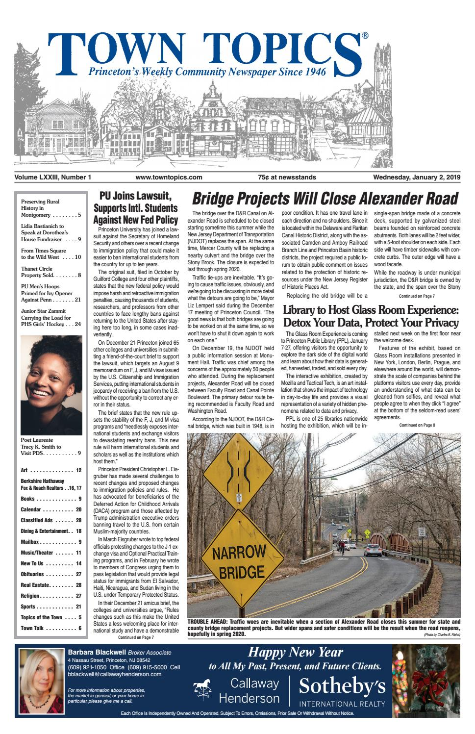 ffd9a9772 Town Topics Newspaper, January 2 by Witherspoon Media Group - issuu