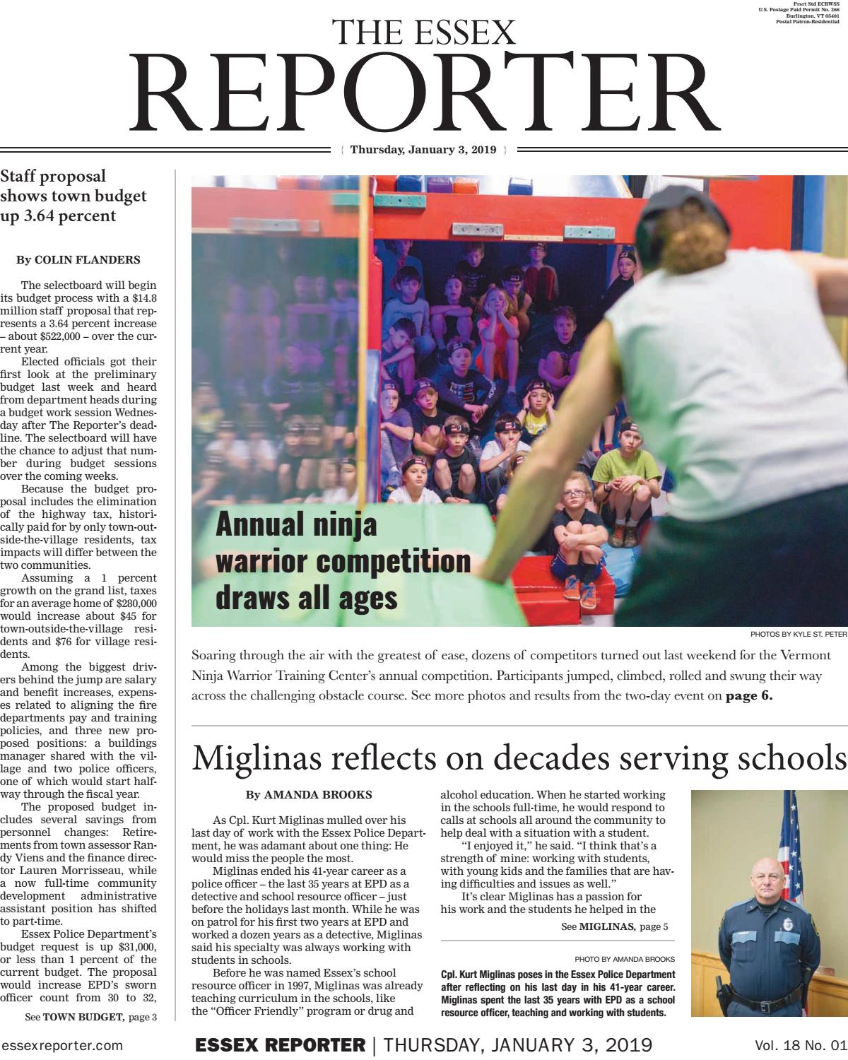 The Essex Reporter: January 3, 2019 by Essex Reporter - issuu