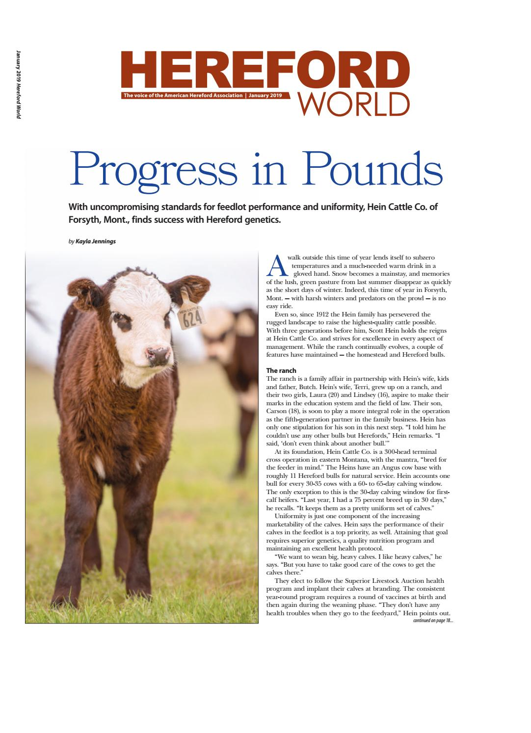 January 2019 hereford world by american hereford association and hereford world issuu