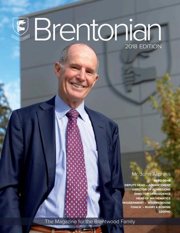 Brentonian Magazine 2018 by Brentwood College School - issuu