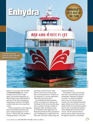 Page 5 of WorkBoat's 2018 Significant Boat of the year Enhydra