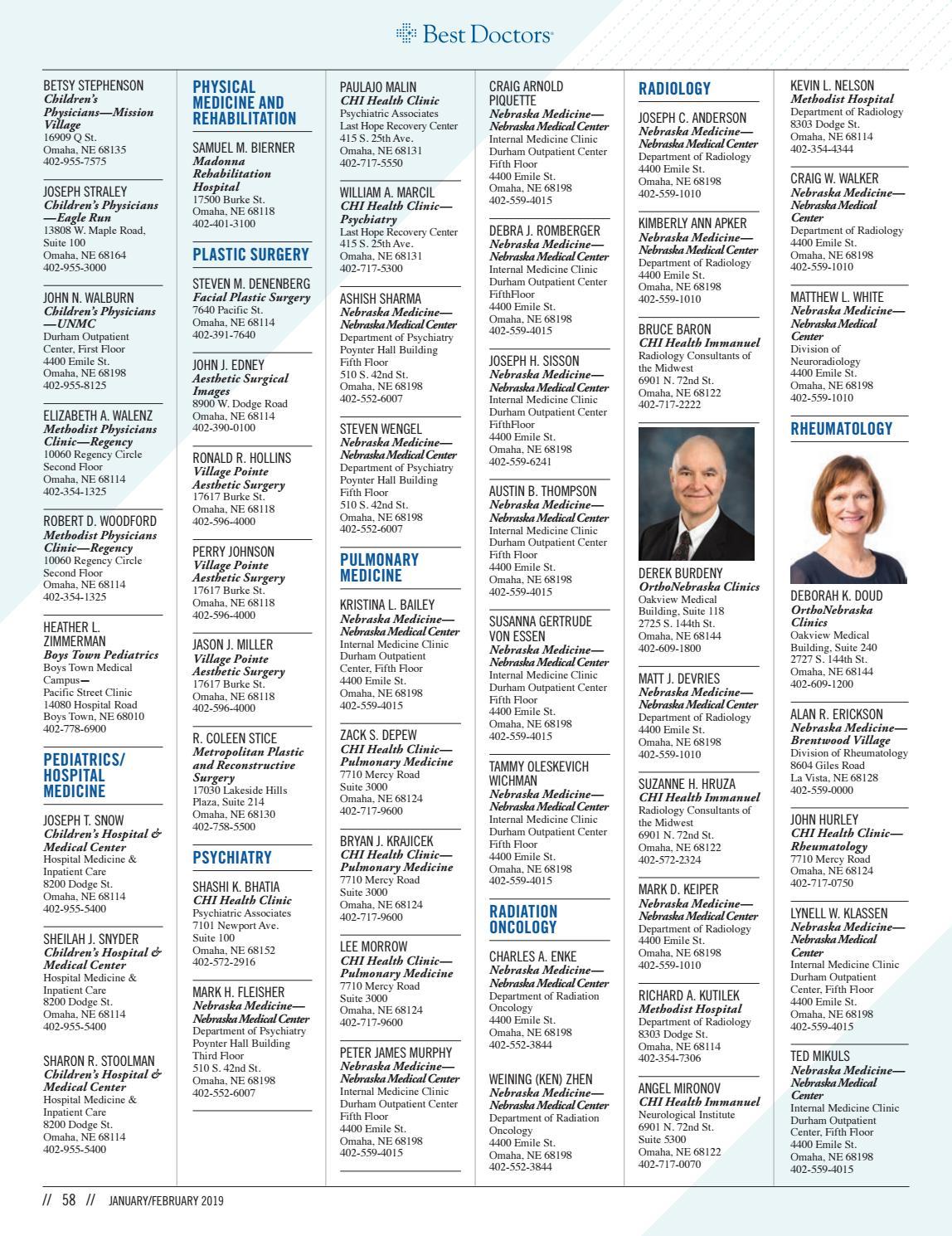 Omaha Magazine - Jan/Feb 2019 - The Donor Issue by Omaha