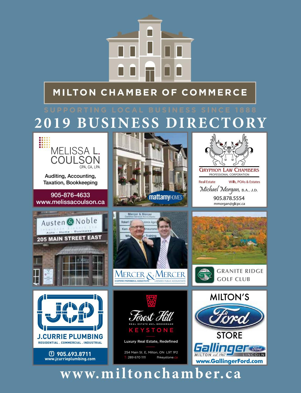 32fbdae260d4e Milton Chamber of Commerce 2019 Business Directory by Milton Chamber of  Commerce - issuu
