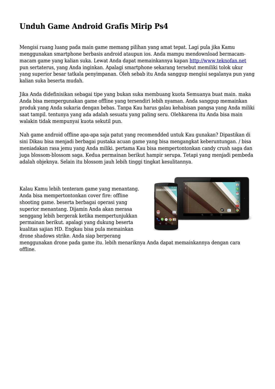 Unduh Game Android Grafis Mirip Ps4 by topteknobaru - issuu