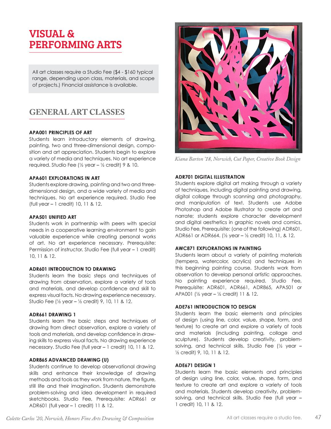 2019-20 NFA Course Catalog by Norwich Free Academy - issuu