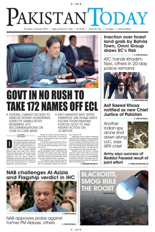 E-Paper PDF 3 January 2019 (LHR) by Pakistan Today - issuu
