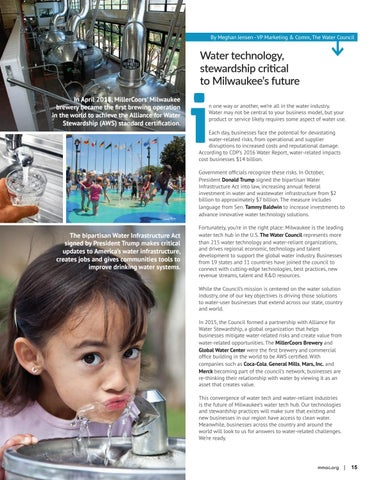 Page 15 of Water technology,  stewardship critical to  Milwaukee's future