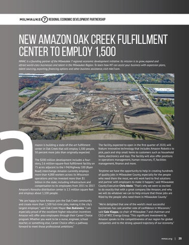 Page 25 of New Amazon oak creek fulfillment center to employ 1,500