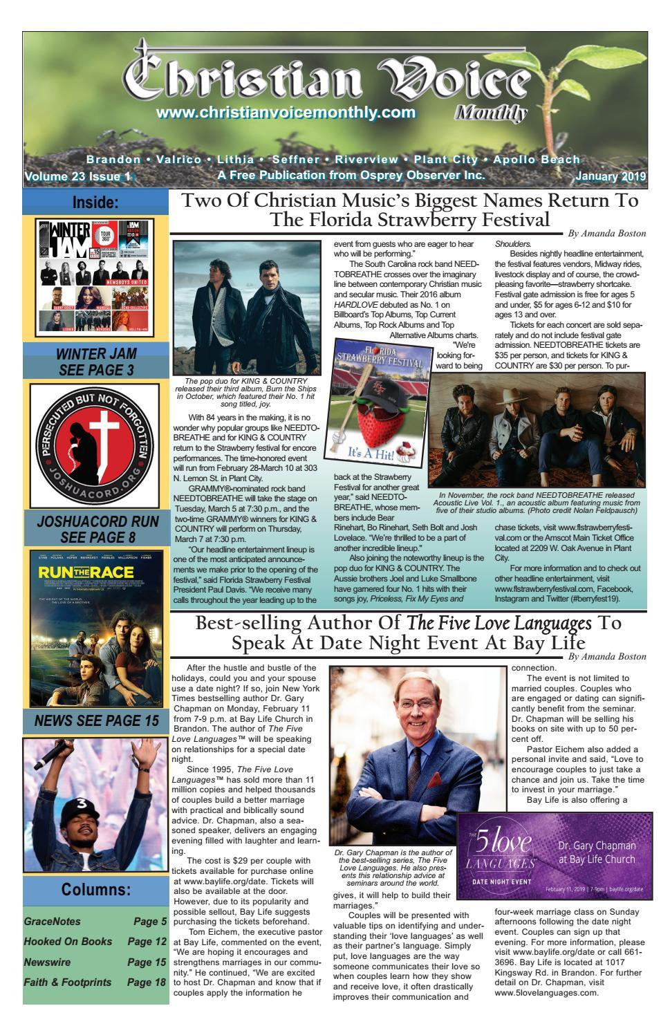 Osprey Observer 2019 01 Christian Voice Monthly By Osprey Observer Issuu