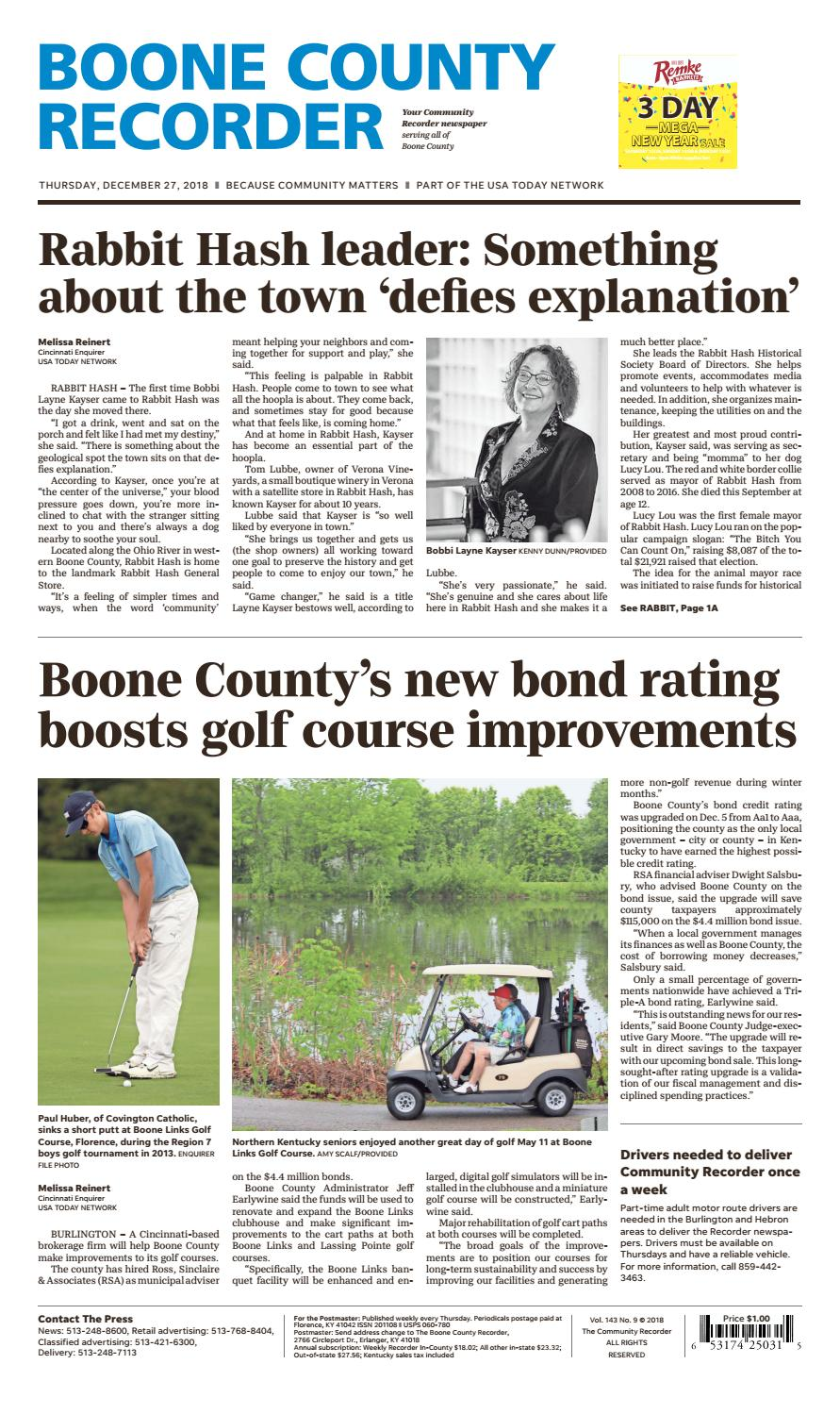 3204a1c66b68c0 Boone County Recorder 12 27 18 by Enquirer Media - issuu