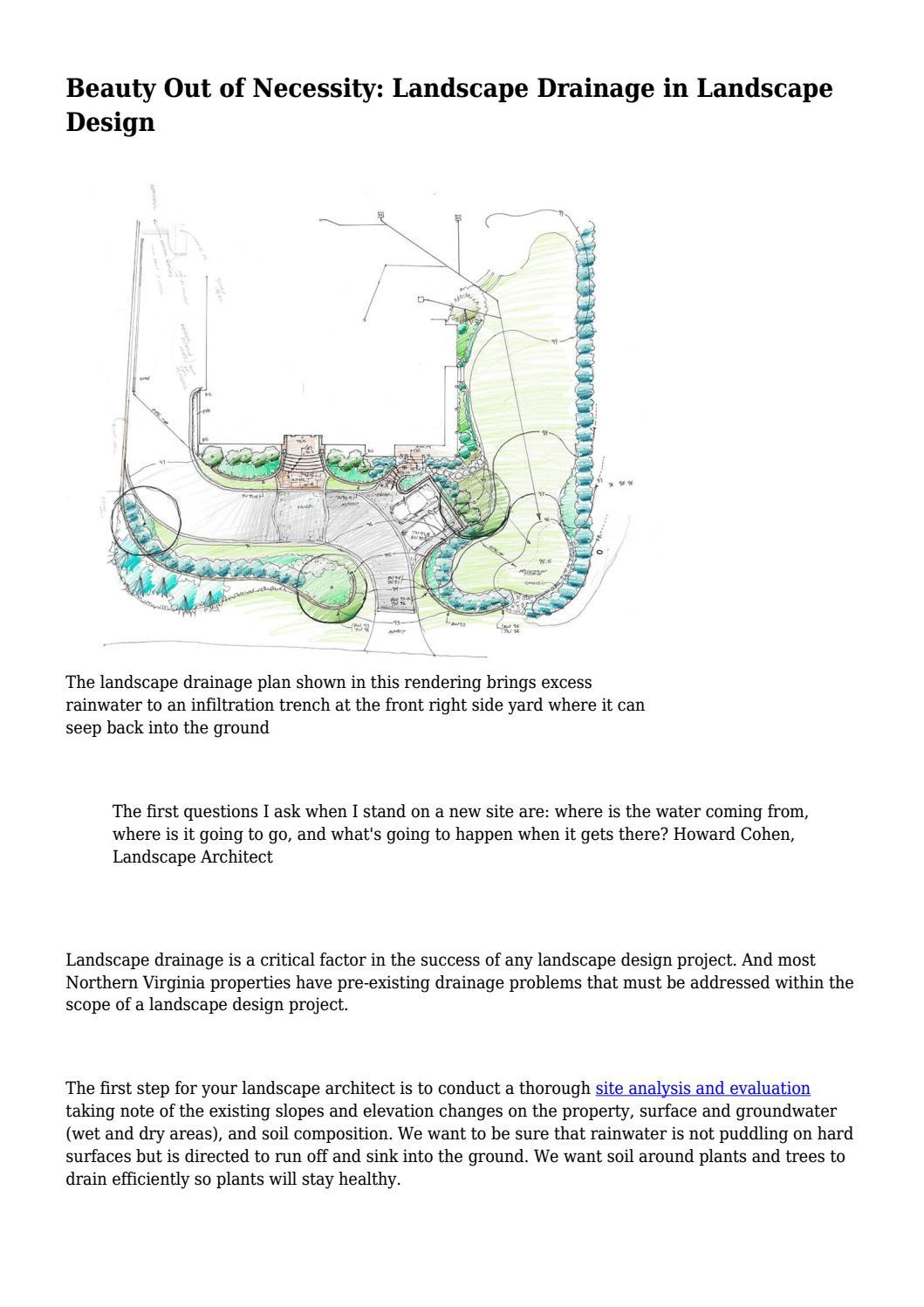 Beauty Out Of Necessity Landscape Drainage In Landscape Design By Davisjohnson236 Issuu