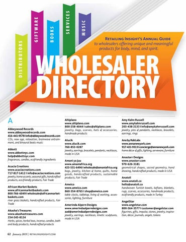 Page 64 of Wholesaler Directory