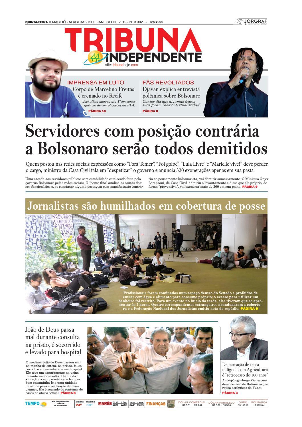 Edição número 3302 - 3 de janeiro de 2019 by Tribuna Hoje - issuu 761b493431cb6