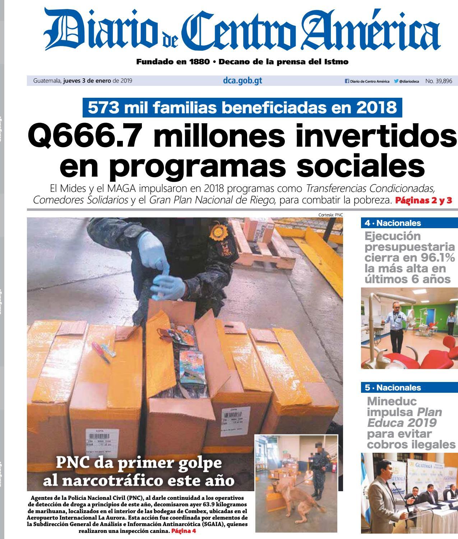 Edición del Diario de Centro América del 03 de enero de 2019. by Diario de  Centro América Guatemala - issuu 2b5e9bf4f922