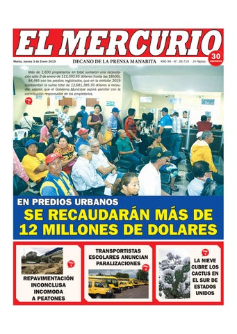 f9f66ccd1a4d JUEVES 03 DE ENERO DE 2019 by Diario El mercurio - issuu