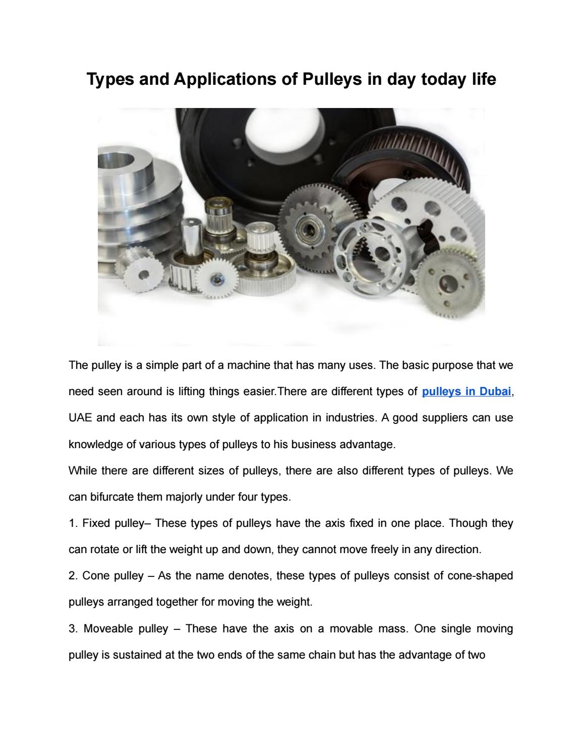 Leading Pulleys Suppliers in Dubai   Avensia Group, UAE by