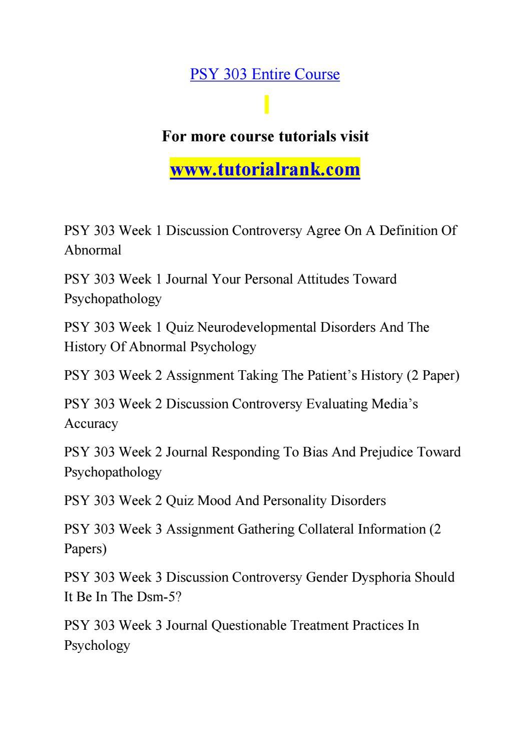 Psy 303ash Teaching Effectively Tutorialrankcom By