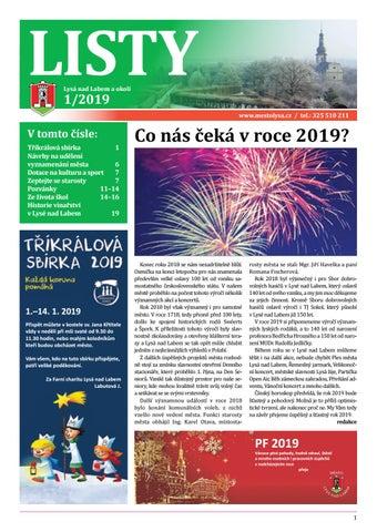 Listy 01   2019 by Město Lysá nad Labem - issuu 2ce022f3ac8