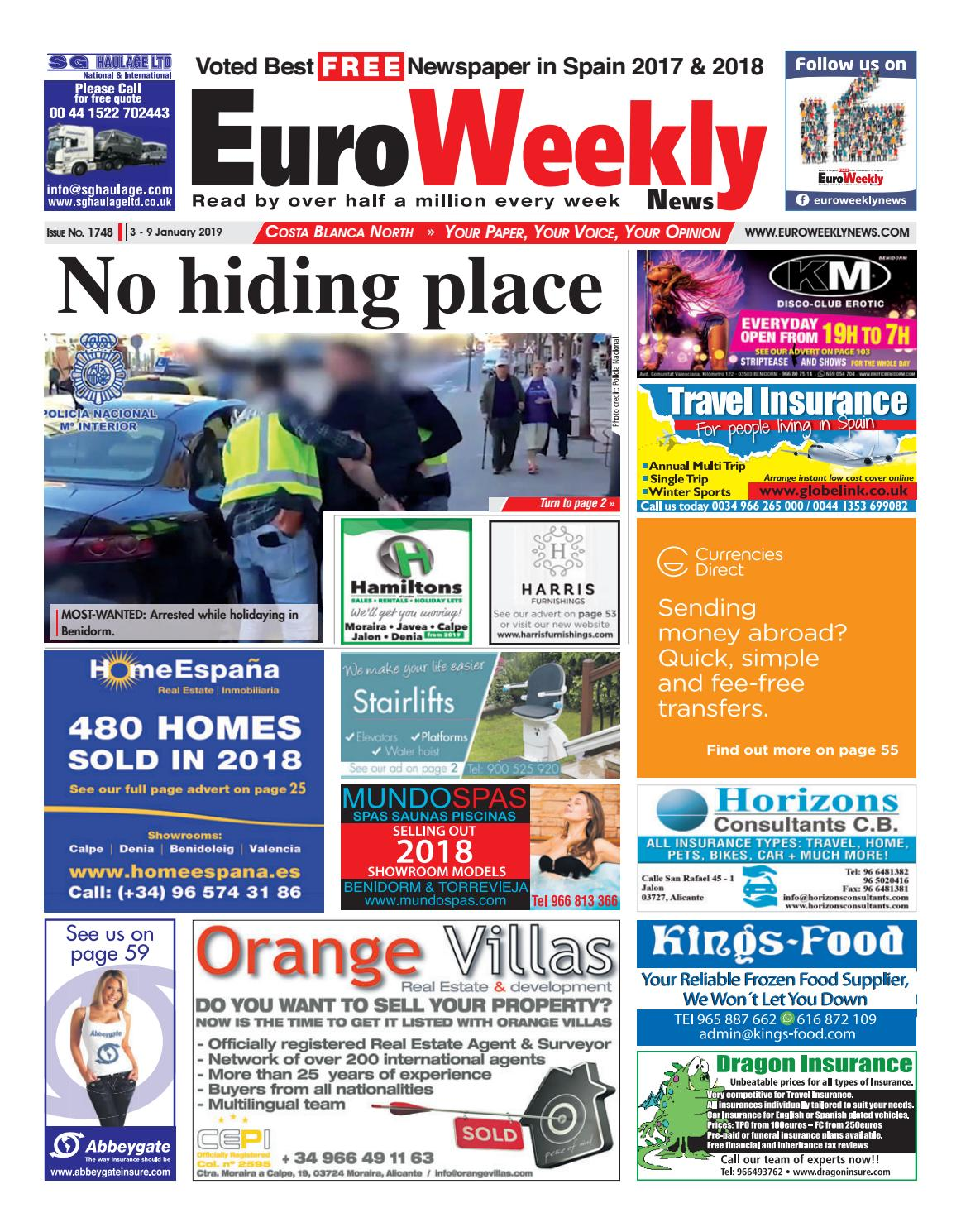 e089ba194c3 Euro Weekly News - Costa Blanca North 3 - 9 January 2019 Issue 1748 ...