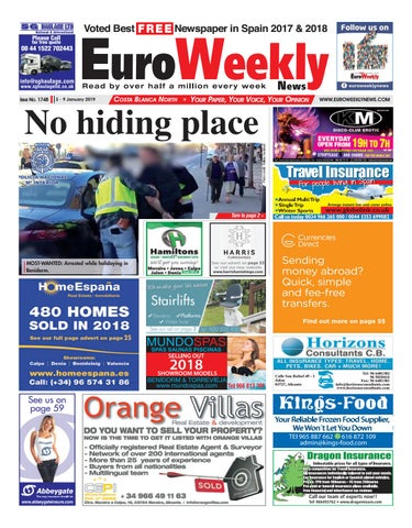 67e52a2f7130 Euro Weekly News - Costa Blanca North 3 - 9 January 2019 Issue 1748 ...