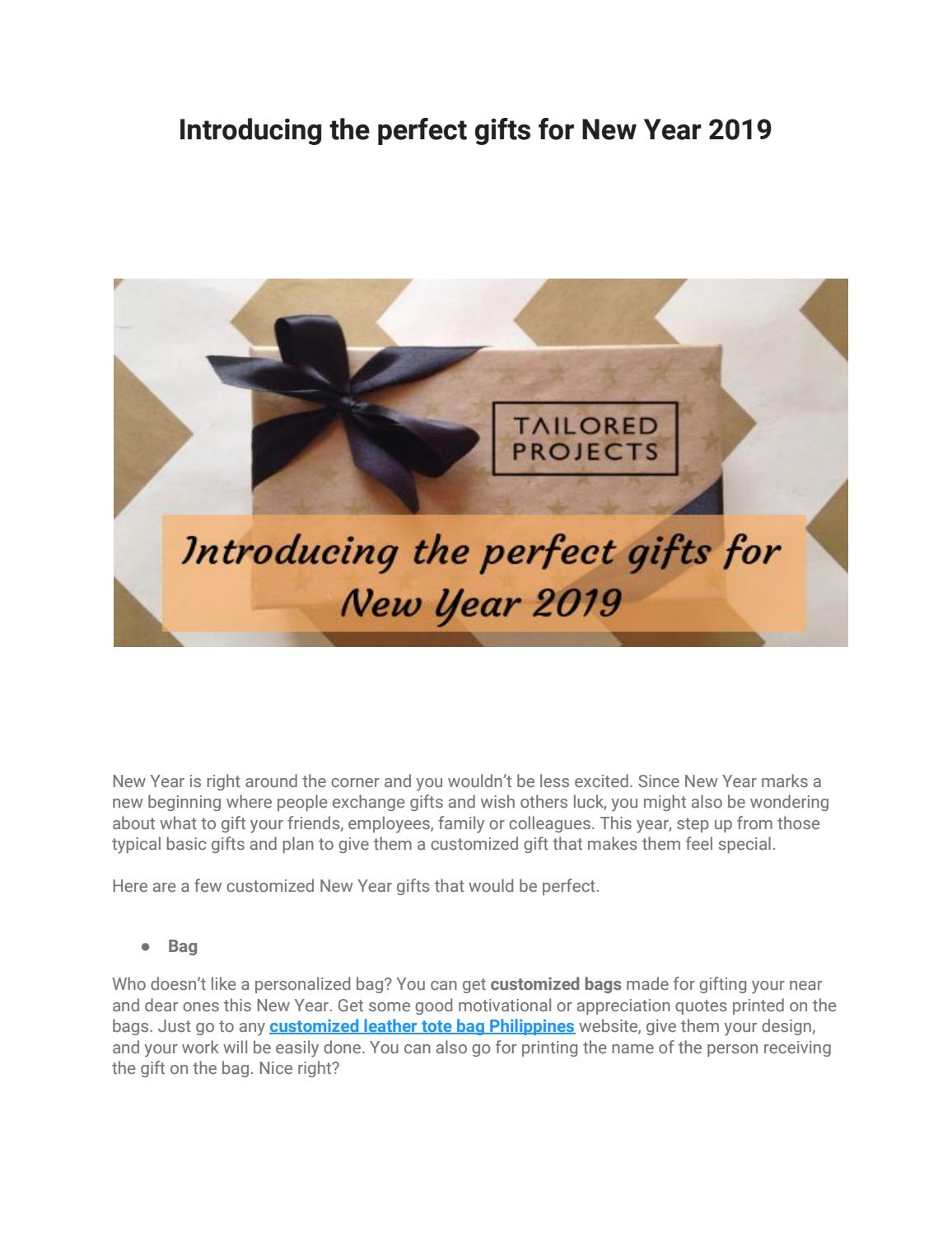 introducing the perfect gifts for new year by tailored