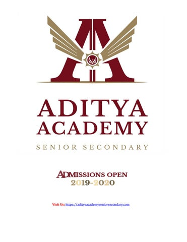 Admission Is Going On At Aditya Academy Senior Secondary School For