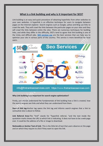 What is a link building and why is it important for SEO by