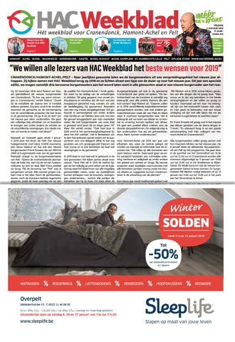 HAC Weekblad week 01 2019 BE by HAC Weekblad issuu