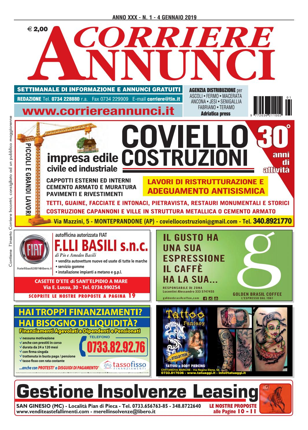 Corriere 1-2019 by Corriere Annunci - issuu b73fc31c3fe