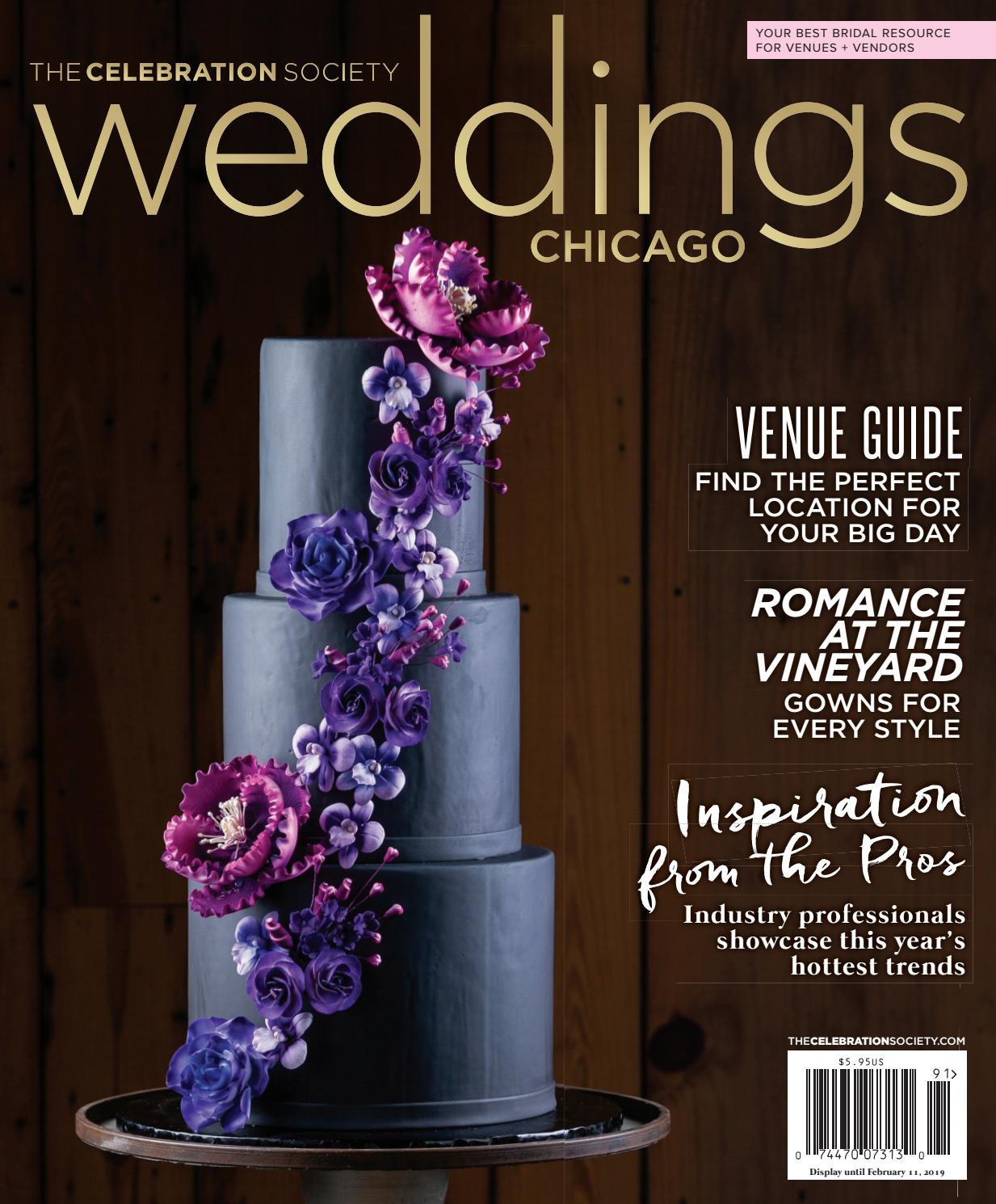 The Celebration Society Weddings Chicago Winter Spring 2019 By