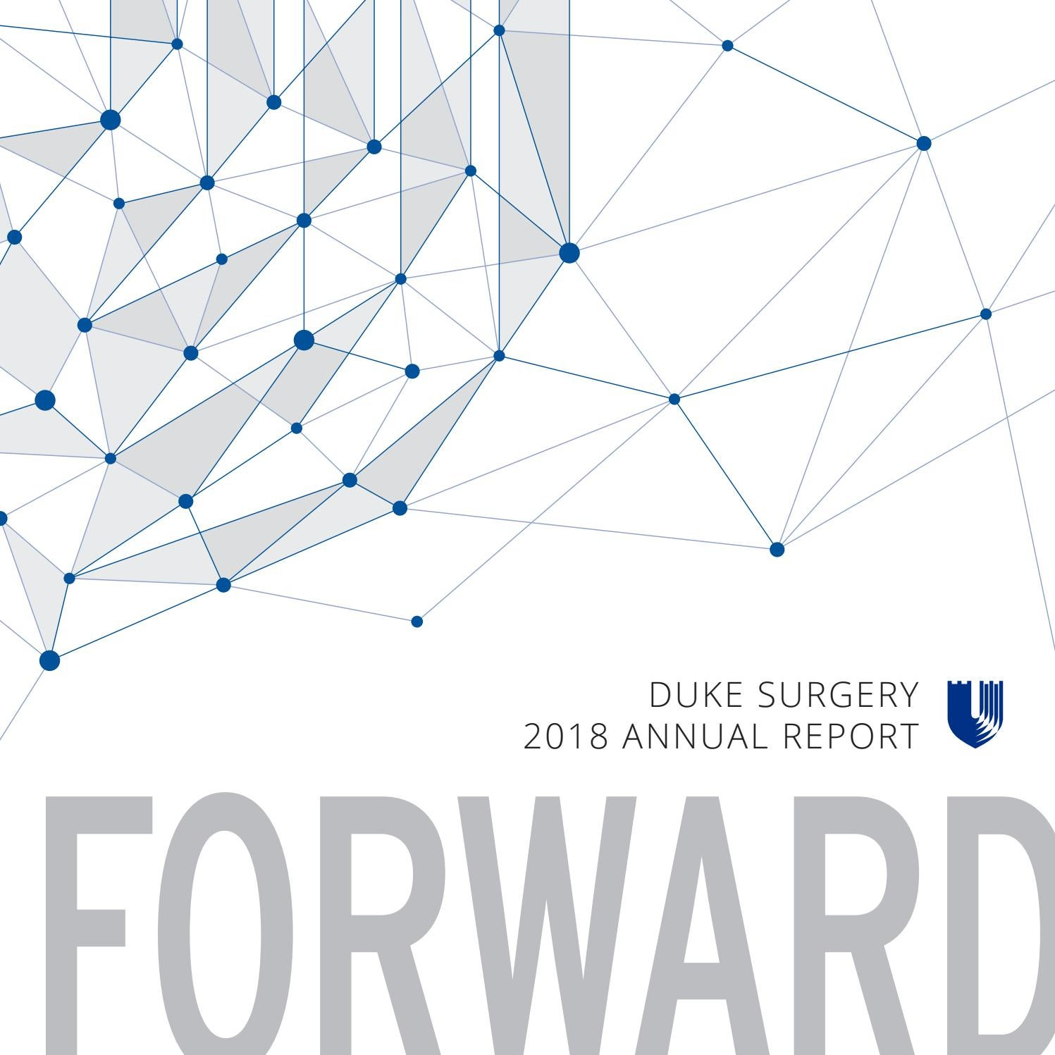 Duke Surgery - 2018 Annual Report by Duke Surgery - issuu