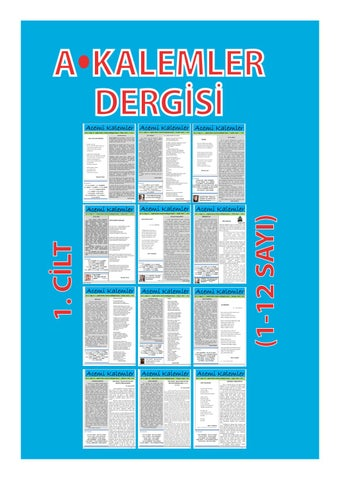 03f8a1ade2df2 akalemler 1.cilt by akalemlerdergisi - issuu
