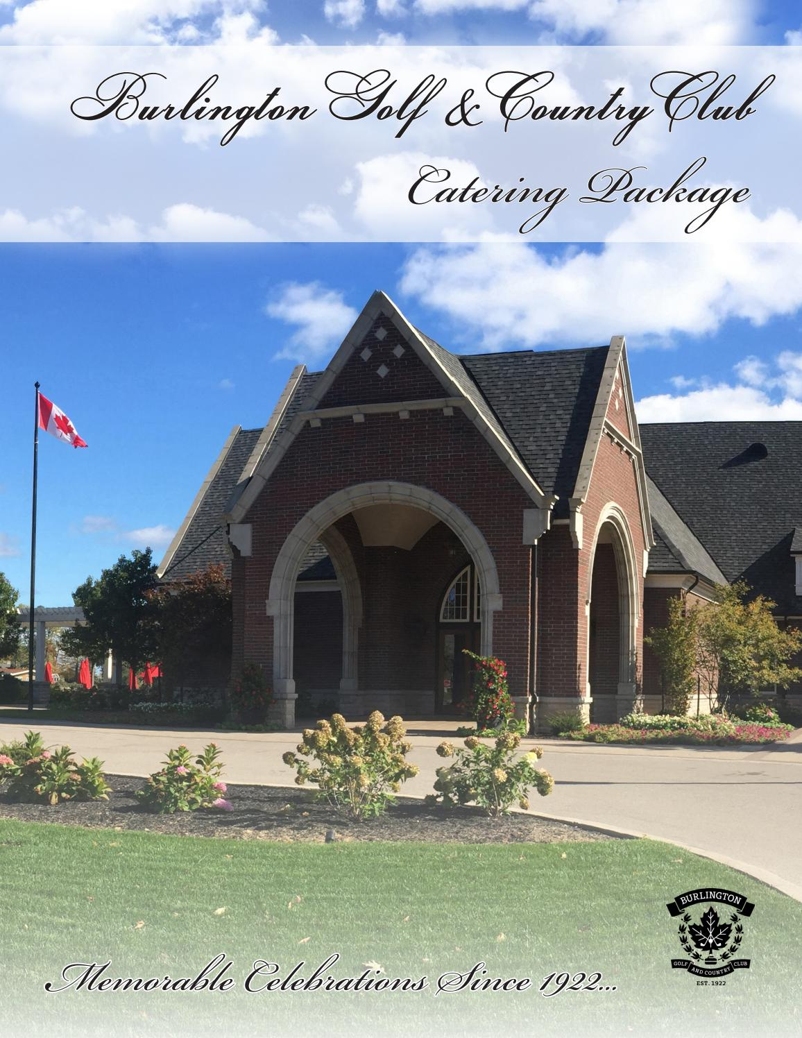 BGCC Catering Package by Burlington Golf and Country Club