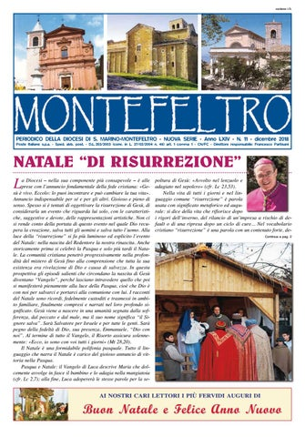 montefeltro-dicembre-2018 by Diocesi San Marino - Montefeltro - issuu 36b9f13205f7