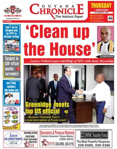 91a9de8b5edd Guyana Chronicle E-paper 01-03-2019 by Guyana Chronicle E-Paper - issuu